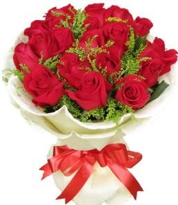 19 adet kırmızı gülden buket tanzimi  Aydın çiçek servisi , çiçekçi adresleri
