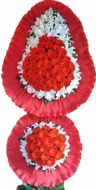 Aydın online çiçek gönderme sipariş  Çift katlı kaliteli düğün açılış sepeti