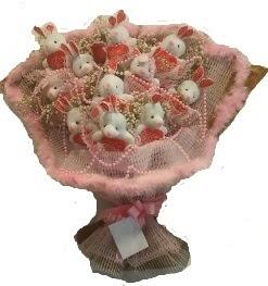 12 adet tavşan buketi  Aydın çiçek mağazası , çiçekçi adresleri