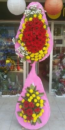 Çift katlı düğün nikah açılış çiçek modeli  Aydın çiçekçiler