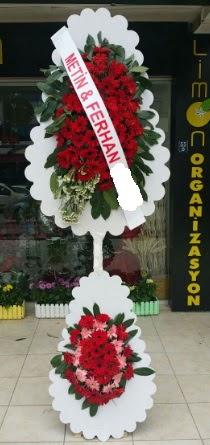 Çift katlı düğün nikah çiçeği modeli  Aydın çiçek siparişi sitesi