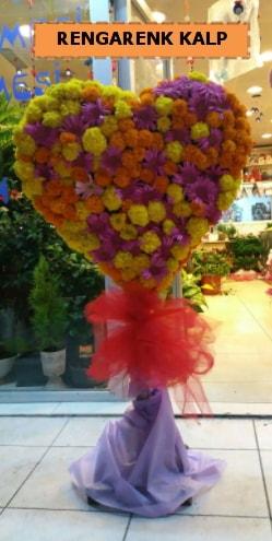 Ankara mevsim çiçeklerinden kalp perförje  Aydın çiçekçi telefonları