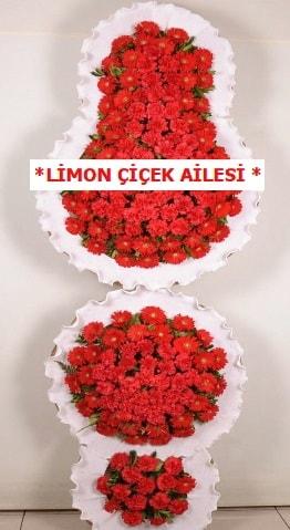 3 katlı kırmızı düğün açılış çiçeği  Aydın çiçek gönderme