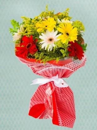Karışık Gelbera Buketi  Aydın çiçek siparişi sitesi