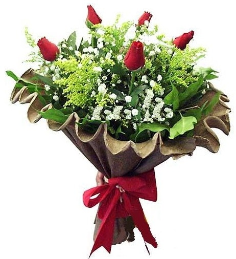 5 adet gülden buket  Aydın çiçek gönderme sitemiz güvenlidir