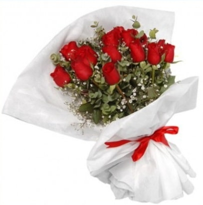 9 adet kırmızı gül buketi  Aydın çiçekçi mağazası