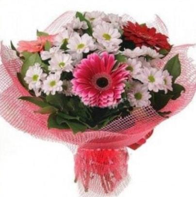 Gerbera ve kır çiçekleri buketi  Aydın internetten çiçek siparişi