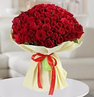 101 adet kırmızı gül buketi koca demet  Aydın internetten çiçek siparişi