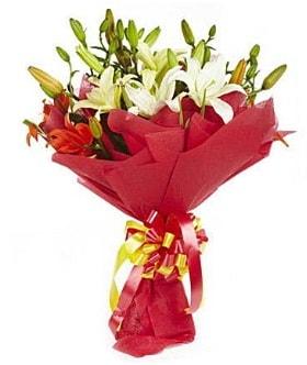 5 dal kazanlanka lilyum buketi  Aydın çiçek gönderme sitemiz güvenlidir