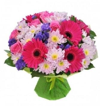 Karışık mevsim buketi mevsimsel buket  Aydın çiçek satışı