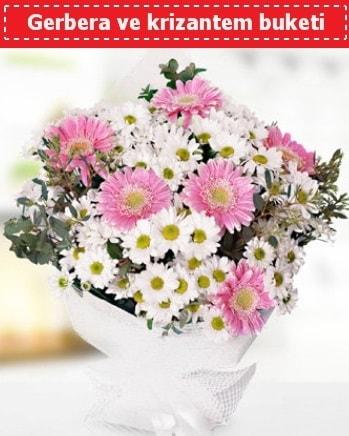 Papatya ve Gerbera Buketi  Aydın çiçek , çiçekçi , çiçekçilik