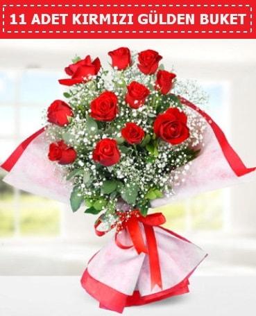 11 Adet Kırmızı Gül Buketi  Aydın internetten çiçek siparişi